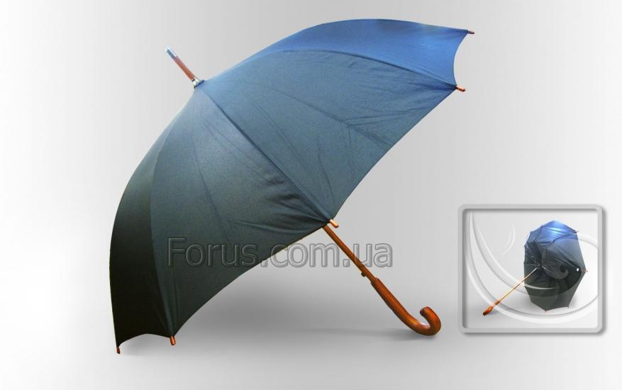 Фото - Зонт Антишторм черный трость купить в киеве на подарок, цена, отзывы