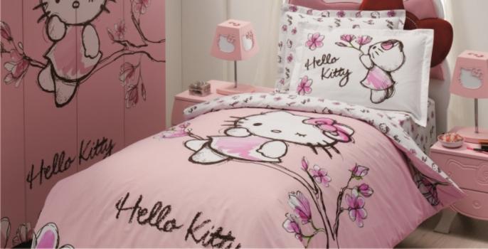 Фото - Детский набор постельного белья Hello Kitty Магнолия купить в киеве на подарок, цена, отзывы