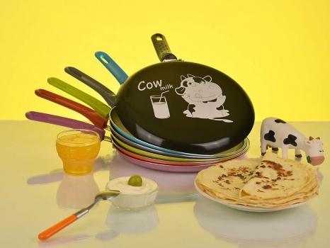 Фото - Сковорода для блинов GRANCHIO CREPE Cow milk купить в киеве на подарок, цена, отзывы