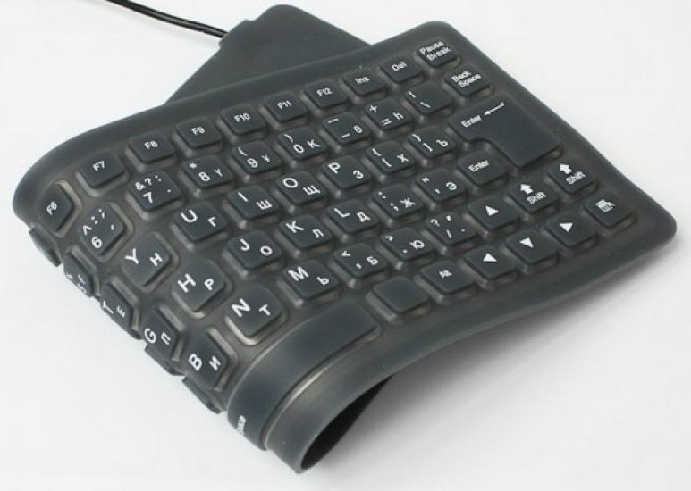 Фото - Cупертонкая резиновая гибкая USB-клавиатура купить в киеве на подарок, цена, отзывы