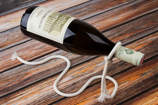 Фото - Подставка для бутылки Веревка Лассо купить в киеве на подарок, цена, отзывы