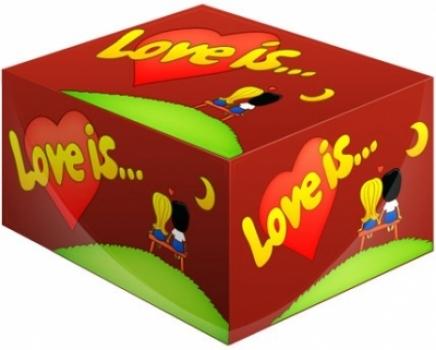 Фото - Жвачка Love is ...Вишня-Лимон купить в киеве на подарок, цена, отзывы