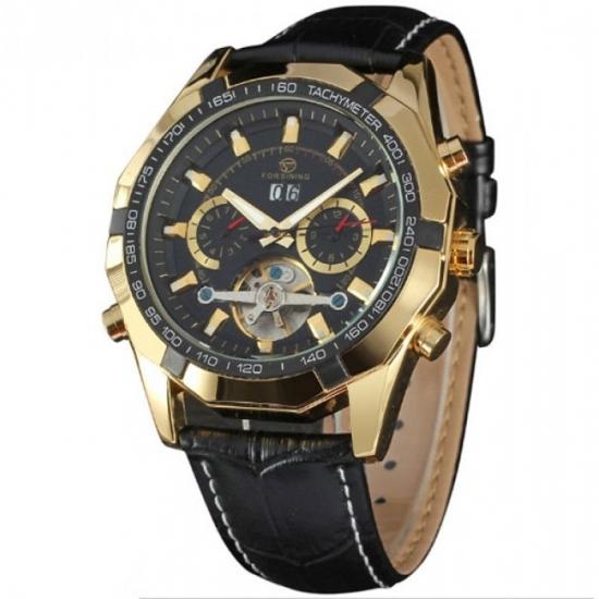 d005f9afb9bd Мужские классические часы Forsining Texas Gold купить недорого в ...