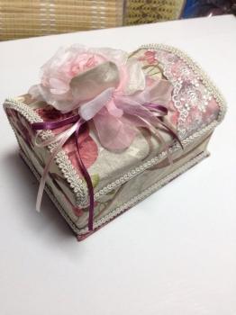 Фото - Шкатулка тканевая прямоугольная купить в киеве на подарок, цена, отзывы