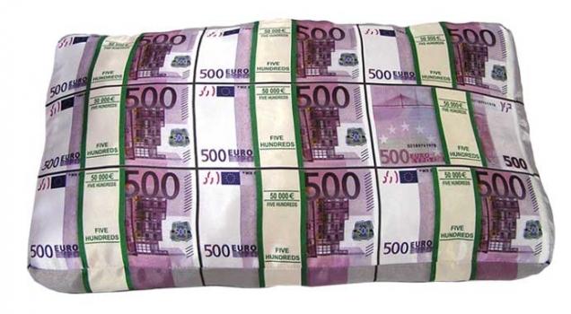 Фото - Подушка Пачки Евро и Долларов купить в киеве на подарок, цена, отзывы