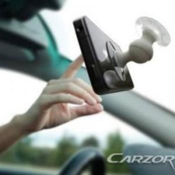 Фото - Держатель-присоска в авто для телефонов CARZOR купить в киеве на подарок, цена, отзывы