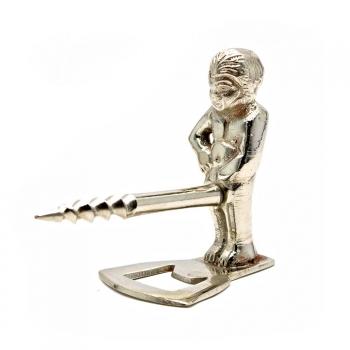 Фото - Штопор бронзовый Мальчик хром купить в киеве на подарок, цена, отзывы