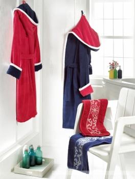 Фото - Халат Altinbasak Pasific мужской синий (+полотенце) купить в киеве на подарок, цена, отзывы