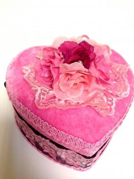 Фото - Шкатулка сердце велюровая маленькая V - 689 купить в киеве на подарок, цена, отзывы