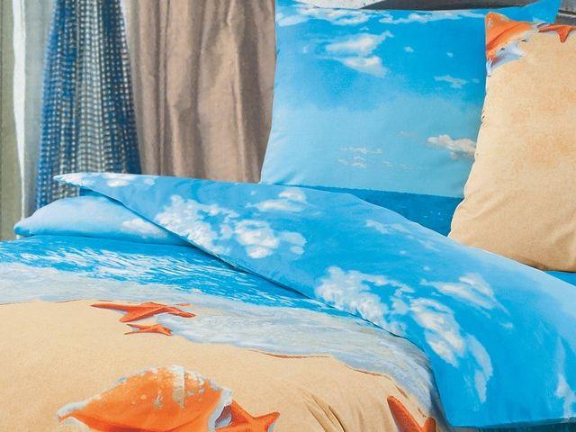 купить Постельное белье ТМ Зоряне сяйво двуспальный евро, рис. Пляж цена, отзывы
