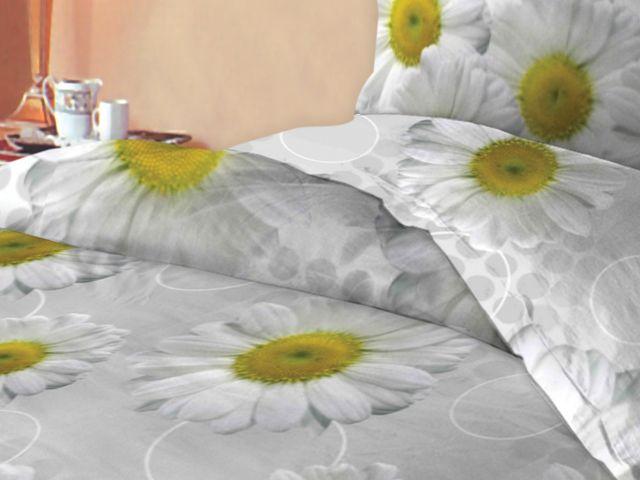 купить Постельное белье Солодкий сон двуспальный евро дизайн Ромашки цена, отзывы
