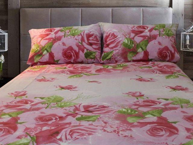 купить Постельное белье Солодкий сон двуспальный евро дизайн Розовые розы цена, отзывы