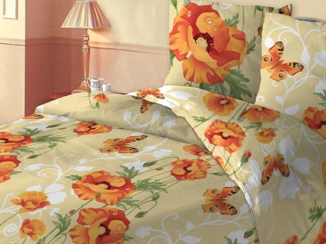 купить 158009 Постельное белье Зоряне сяйво двуспальный евро, дизайн Маки цена, отзывы