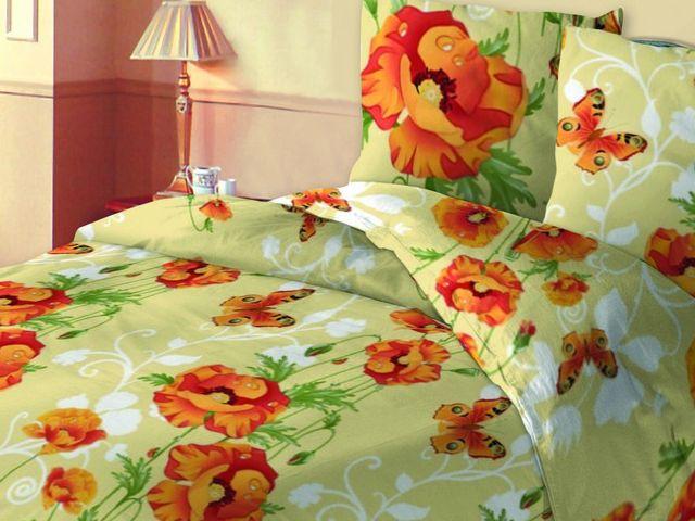 купить Постельное белье Солодкий сон двуспальный евро дизайн Маки цена, отзывы