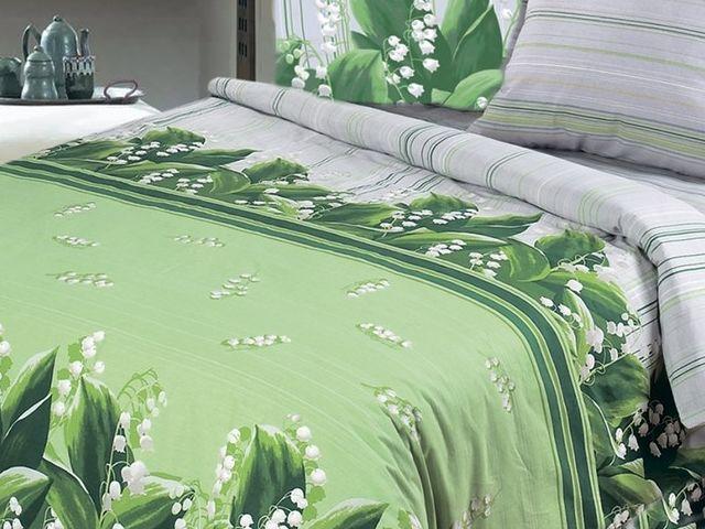 купить Постельное белье Солодкий сон двуспальный евро дизайн Ландыши цена, отзывы