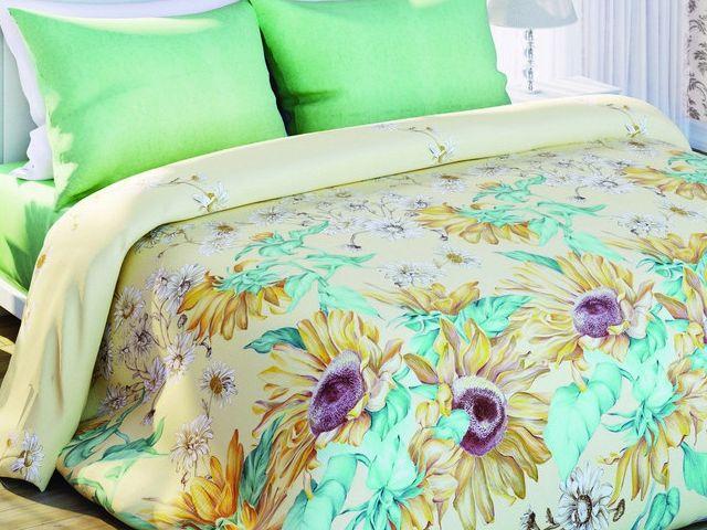 купить Постельное белье Солодкий сон, размер двуспальный евро, дизайн Подсолнухи  цена, отзывы