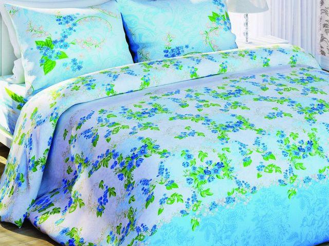 купить Постельное белье Солодкий сон, размер двуспальный евро, дизайн Ландыш майский  цена, отзывы