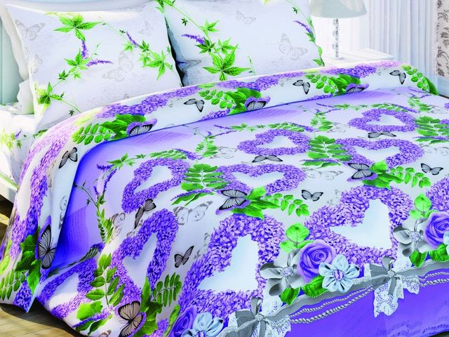 купить Постельно белье Солодкий Сон двуспальный евро, дизайн Ніжний бузок цена, отзывы