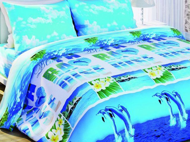 Фото - Постельно белье Солодкий Сон двуспальный евро, дизайн Лагуна купить в киеве на подарок, цена, отзывы