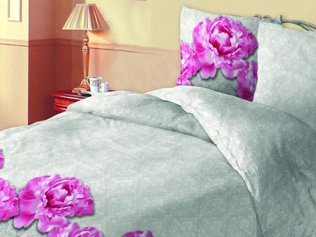 купить 296625 Постельное белье Зоряне сяйво, двуспальный евро, дизайн Піони цена, отзывы