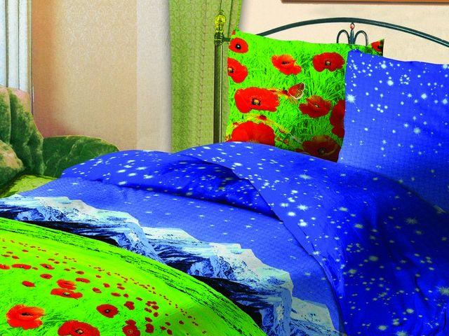 купить Постельное белье Зоряне сяйво, двуспальный евро, дизайн Маки цена, отзывы