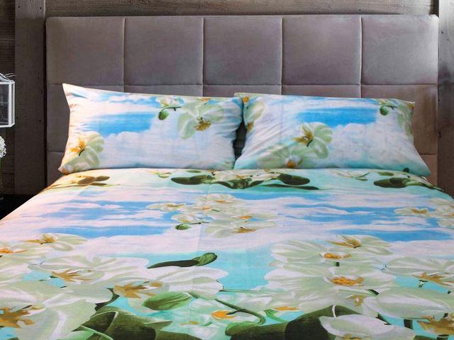 купить Постельное белье Солодкий сон двуспальный евро, дизайн Орхидея цена, отзывы