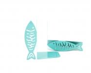 фото 10045  Держатель для книг Рыбы цветло-бирюзовые цена, отзывы