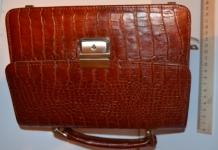 фото 1284  Оригинальная мужская барсетка из натуральной кожи 1 цена, отзывы