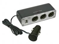 купить Разветвитель прикуривателя на 3 гнезда с USB цена, отзывы
