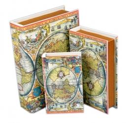 купить Книга-шкатулка Карты мира 3шт. цена, отзывы