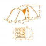 фото 7215  Палатка походная 3-х местная цена, отзывы