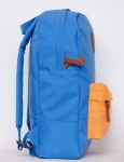 фото 8079  Рюкзак GiN Bronx голубой с оранжевым карманом цена, отзывы
