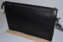 фото 1521  Барсетка кожаная мужская Black 111 цена, отзывы