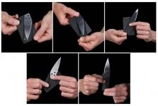 фото 990  Нож кредитка (Складной нож в бумажнике)  цена, отзывы