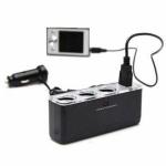 фото 850  Разветвитель прикуривателя на 3 гнезда с USB цена, отзывы