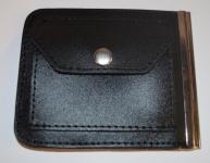 фото 1564  Зажим для денег с кармашеком для мелочи натуральная кожа №2 цена, отзывы