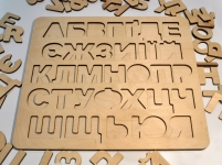 фото 6680  Алфавит  деревянный Украинский цена, отзывы