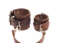фото 9446  Кожаный браслет для пар коричневый цена, отзывы