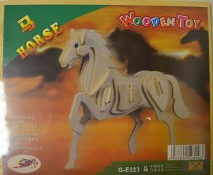 купить Сборная деревянная модель Лошадь (3D пазл) цена, отзывы