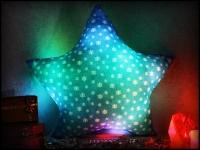купить Светящаяся подушка Звездочка со снежинками цена, отзывы