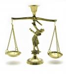 купить Подсвечник весы бронзовый цена, отзывы