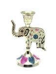 купить Подсвечник бронзовый цветной Слон цена, отзывы