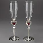 купить Свадебные бокалы Пылающие сердца цена, отзывы