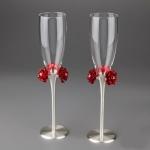 купить Свадебные бокалы Розы цена, отзывы