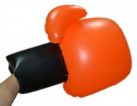 купить Перчатки Воздушный бой боксёрские надувные оранжевые  цена, отзывы