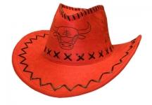 купить Ковбойская шляпа с орнаментом красная цена, отзывы