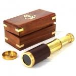 купить Подзорная труба Thomas 16,5 см в деревянном футляре цена, отзывы