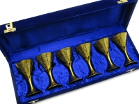 купить Бокалы бронзовые позолоченные 6 шт Elisa цена, отзывы