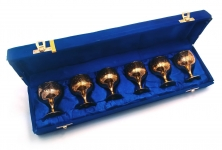купить Бокалы бронзовые позолоченные 6 шт Rebecca цена, отзывы