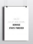 купить Постер Service stays forever цена, отзывы